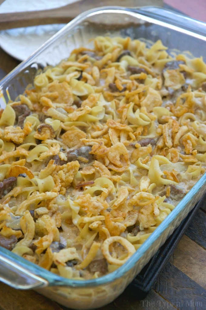 Easy Beef Stroganoff Casserole Recipe · The Typical Mom