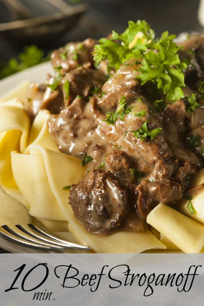 Easy Beef Stroganoff Recipe * The Typical Mom