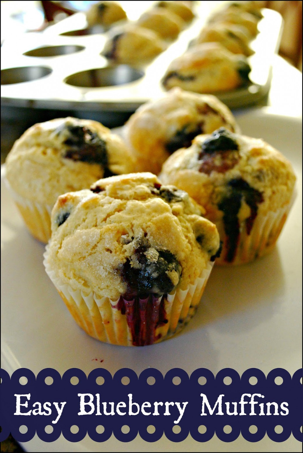 Easy Blueberry Muffins - Food Fun Friday - Mess for Less