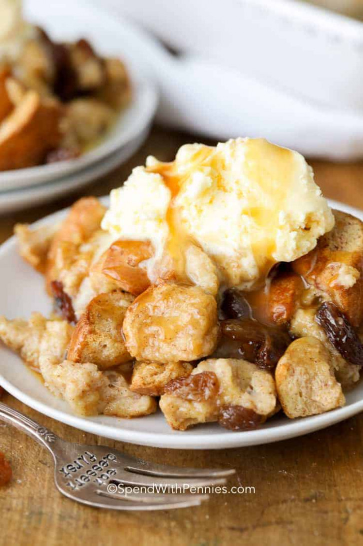 Easy Bread Pudding - Spend With Pennies