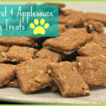 Easy Carrot + Applesauce Dog Treats Recipe | Happyandsimple