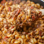 Easy Cheesy Beef Goulash Recipe (+VIDEO) | Lil' Luna
