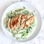 Easy Chicken And Creamy Alfredo Zoodles (Low Carb, Keto …