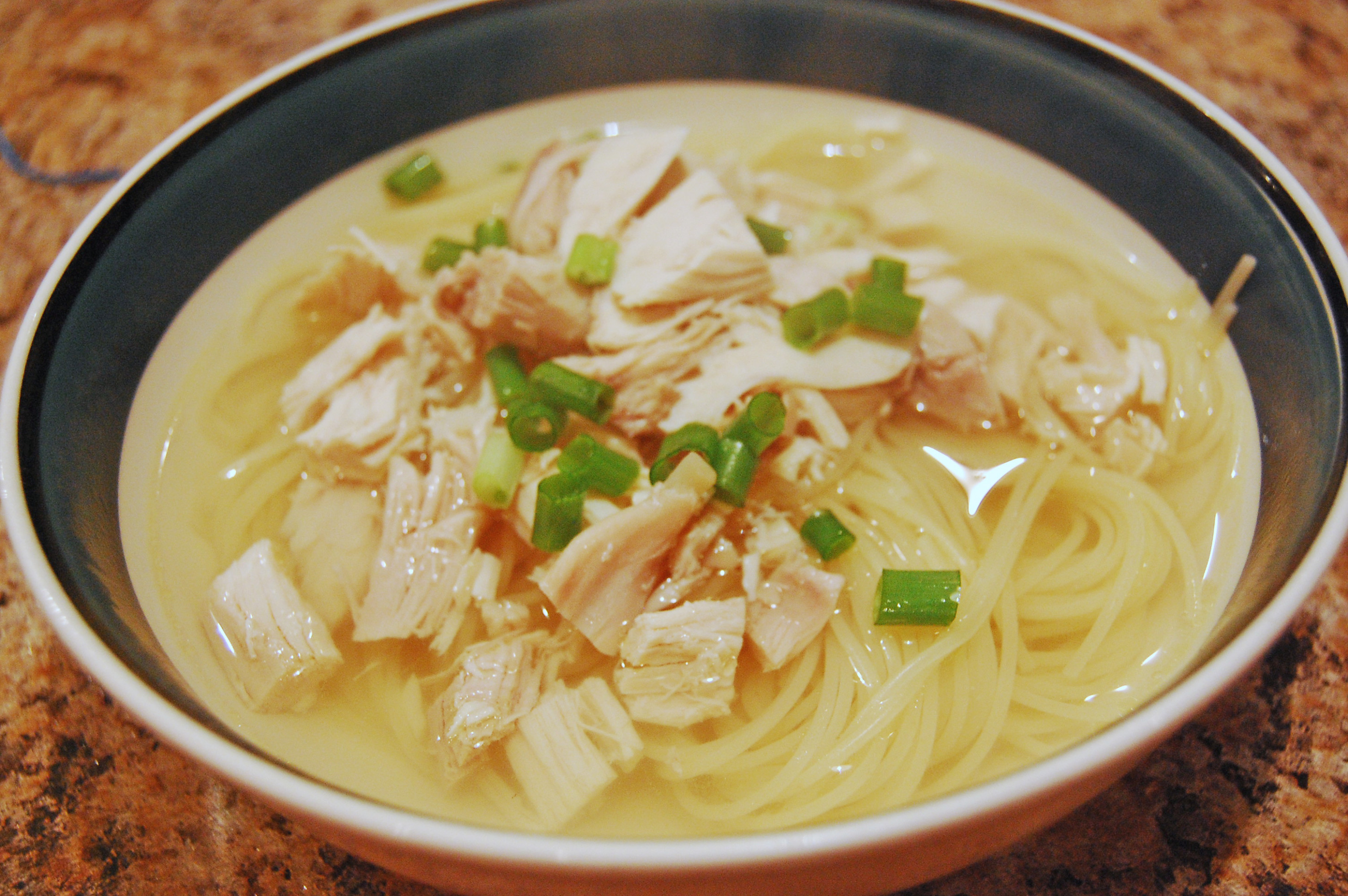 Easy Chicken Noodle Soup From A Leftover Roasted Chicken ...