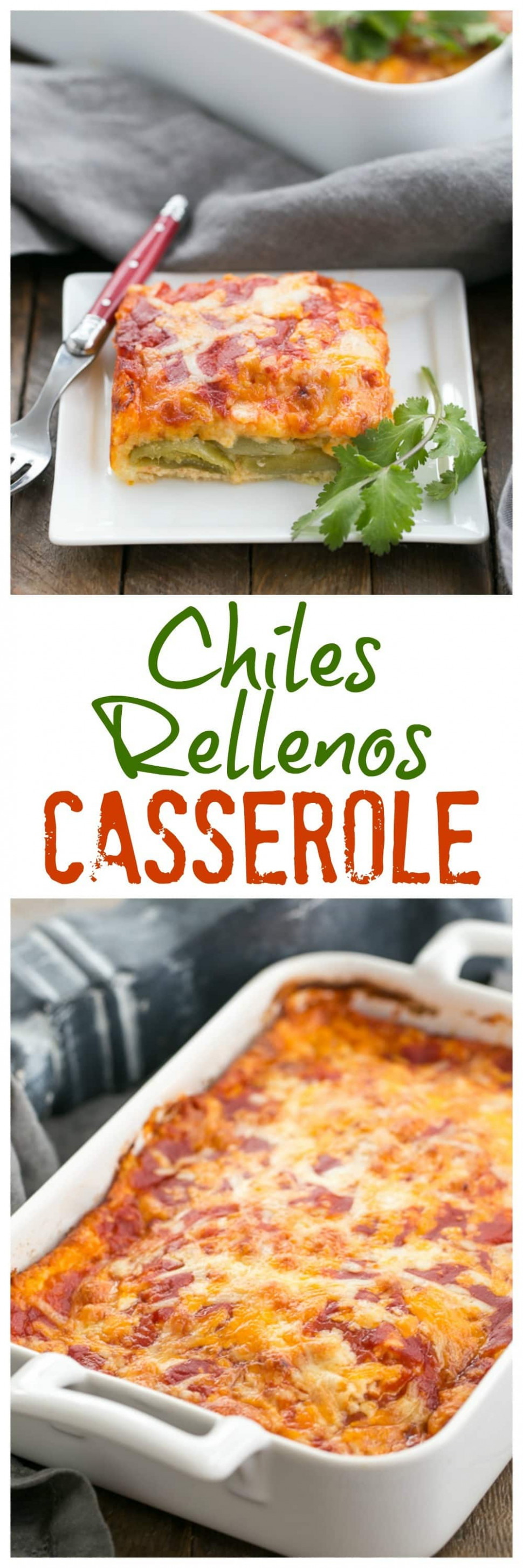 Easy Chiles Rellenos Casserole - That Skinny Chick Can Bake