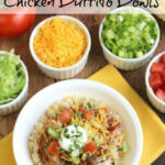 Easy Crock Pot Chicken Burrito Bowls – Two Healthy Kitchens