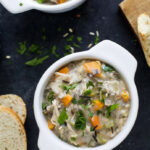 Easy Crockpot Chicken & Wild Rice Soup | Only 5 Min Prep Time!
