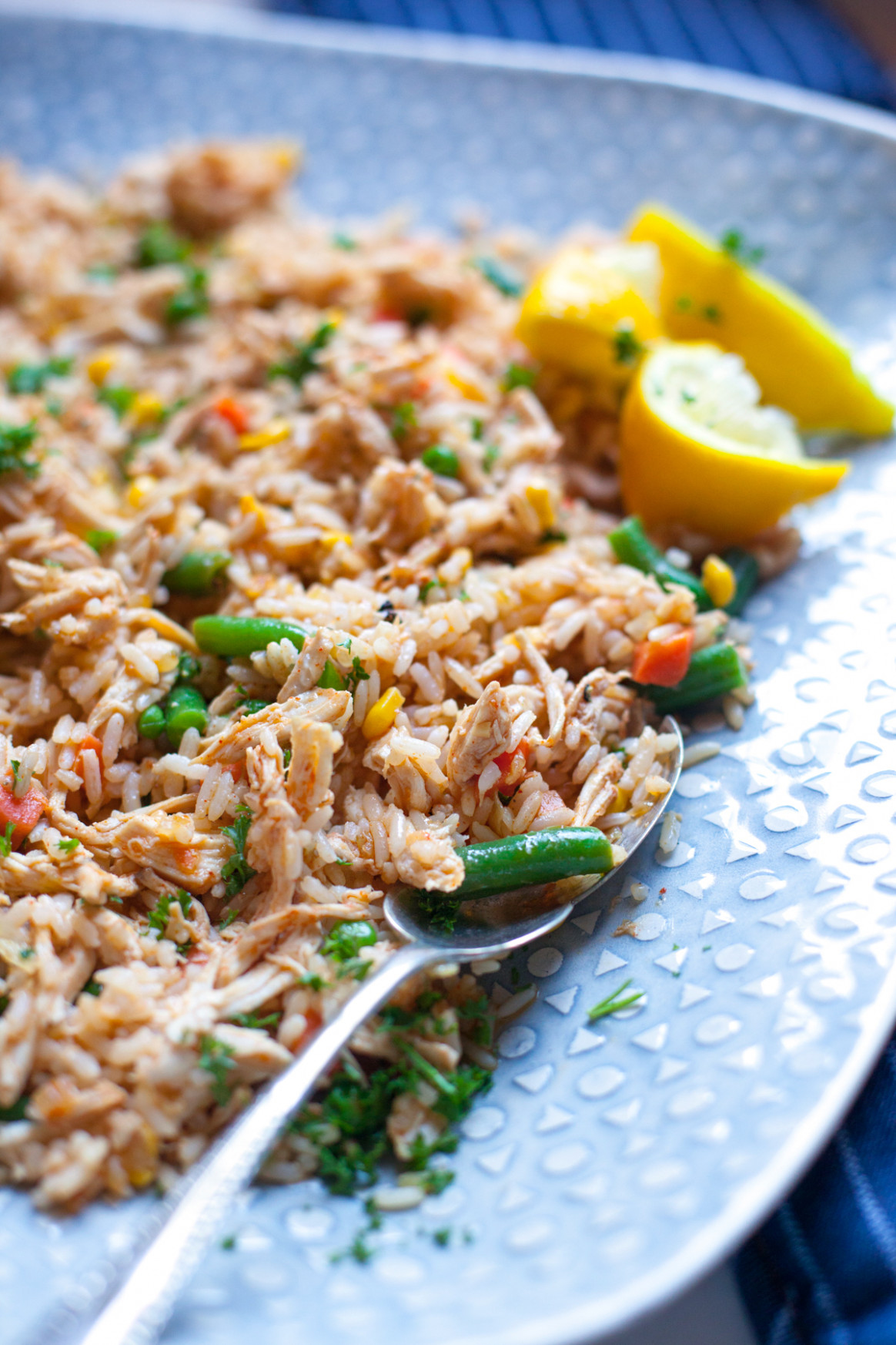 Easy Dinner Ideas Spicy Rice And Chicken Strips | Just Easy …