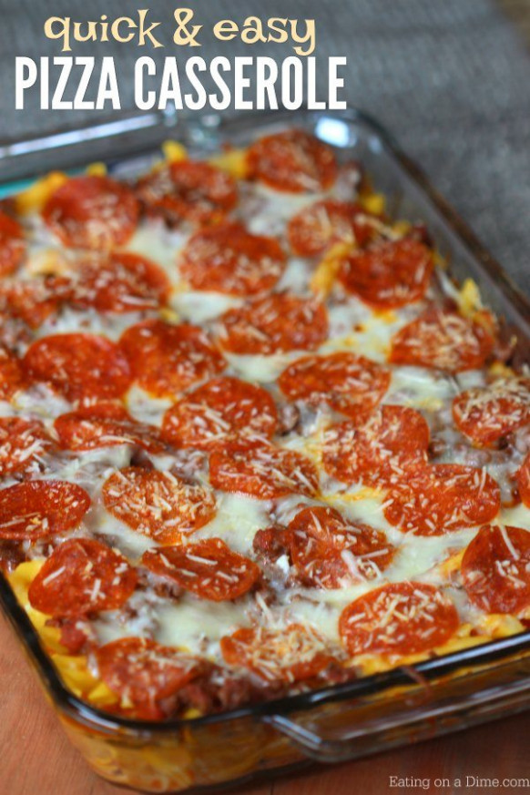 Easy Freezer Meal: Pizza Casserole Recipe - Eating on a Dime