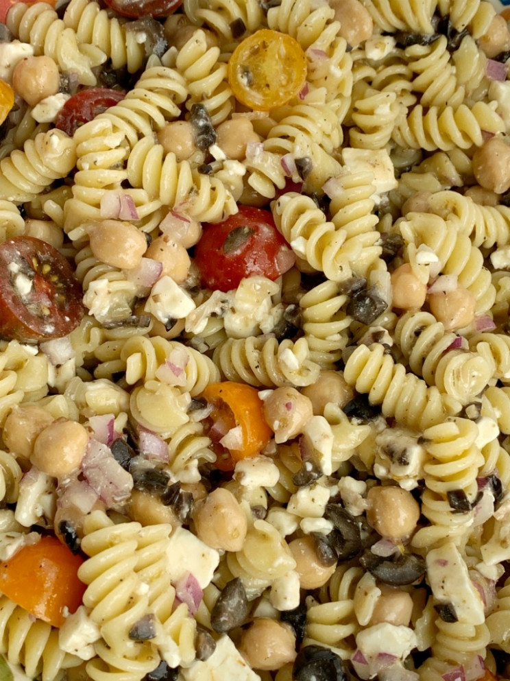 Easy Greek Pasta Salad - Together as Family