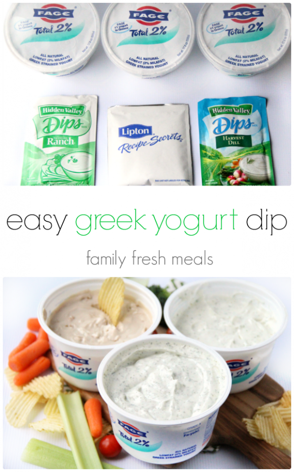 Easy Greek Yogurt Dips - 3 Ways! - Family Fresh Meals