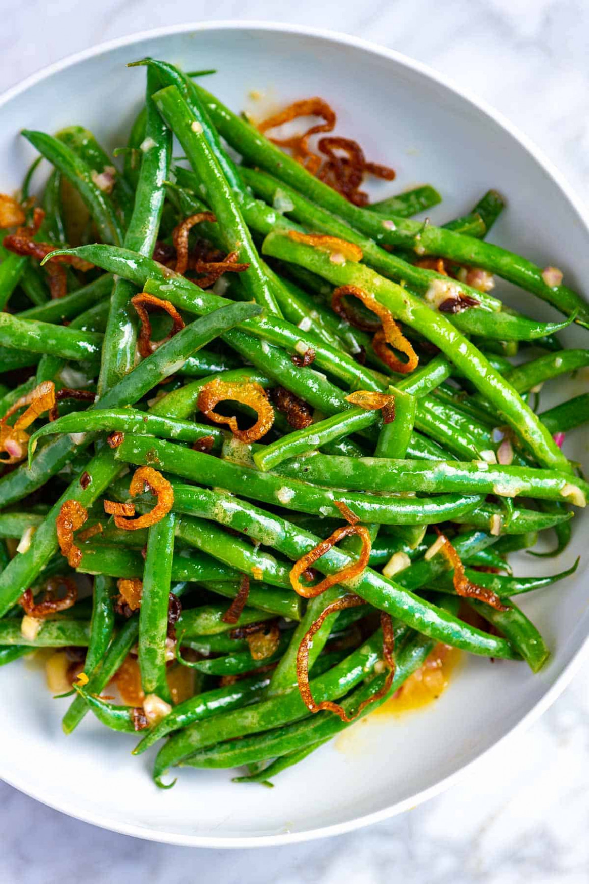 Easy Green Bean Salad With Crispy Shallots
