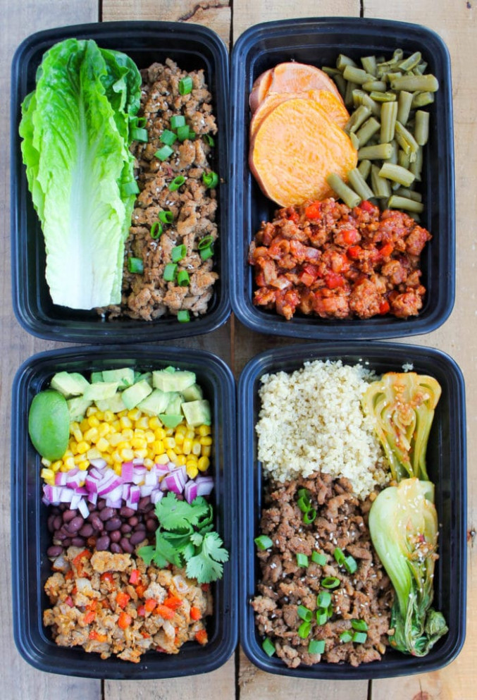 Easy Ground Turkey Meal Prep Bowls: 4 Ways - Smile Sandwich