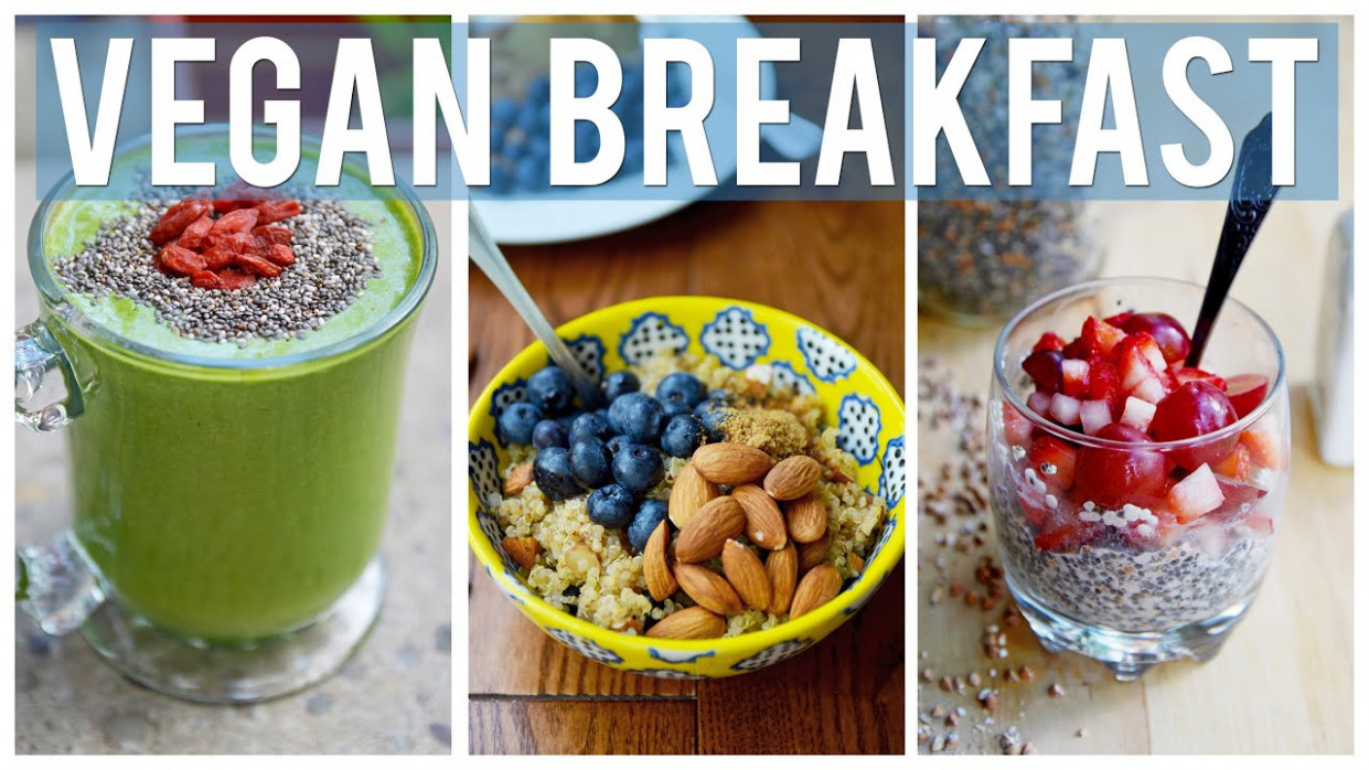 Easy & Healthy Breakfast Ideas | 3 YUMMY VEGAN RECIPES ...