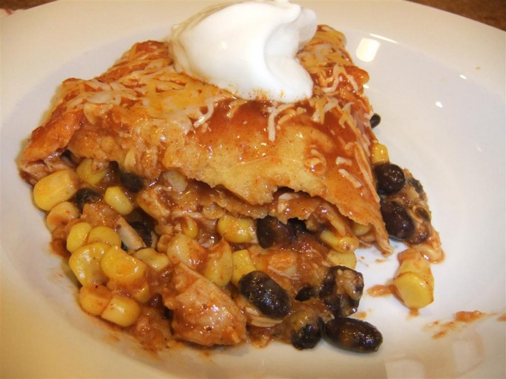 Easy Healthy Chicken Enchilada Bake Recipe