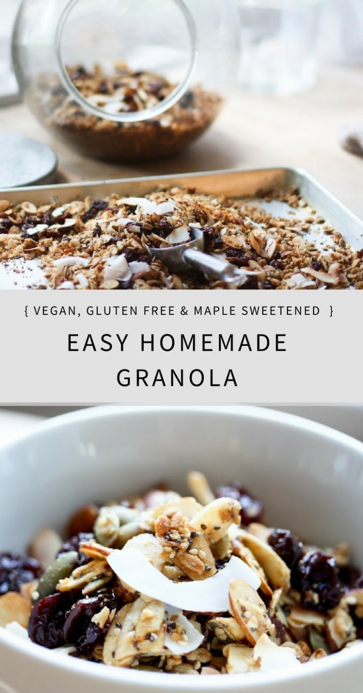 Easy Homemade Granola Recipe | Vegan and Gluten Free!