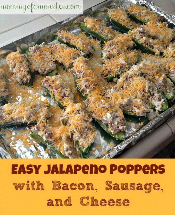Easy Jalapeno Poppers | Recipe | Bacon, Monsters and ...