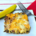 Easy Keto Low-Carb Bacon Cheeseburger Casserole with VIDEO