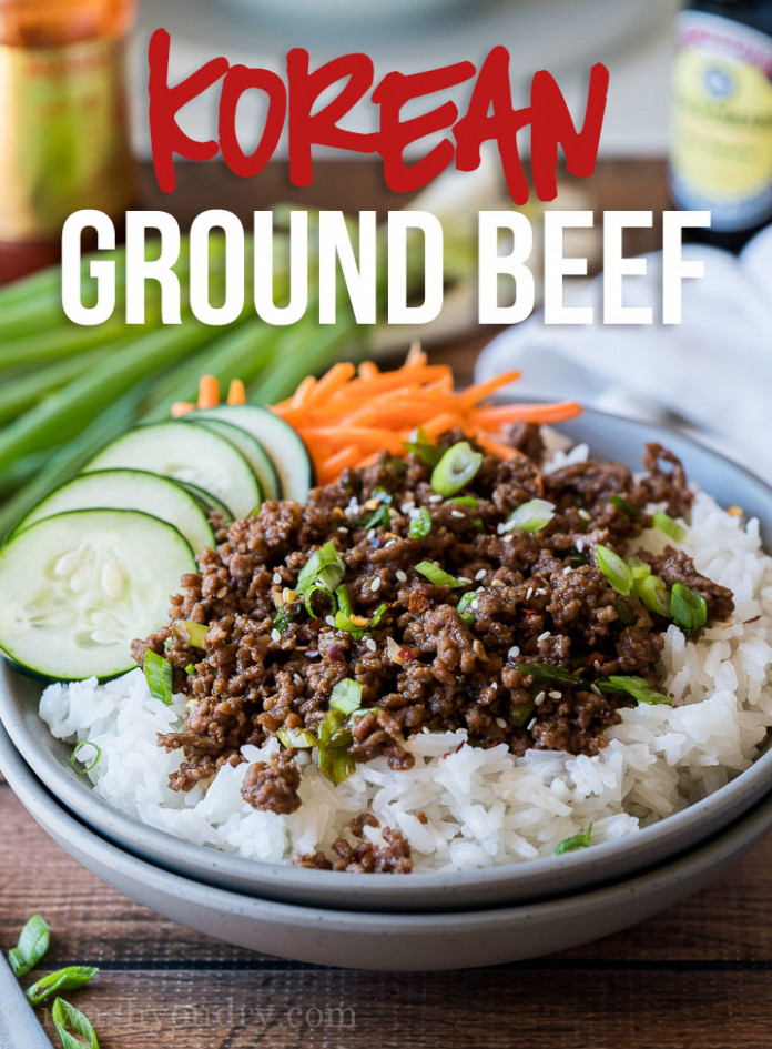 Easy Korean Ground Beef Recipe | I Wash You Dry