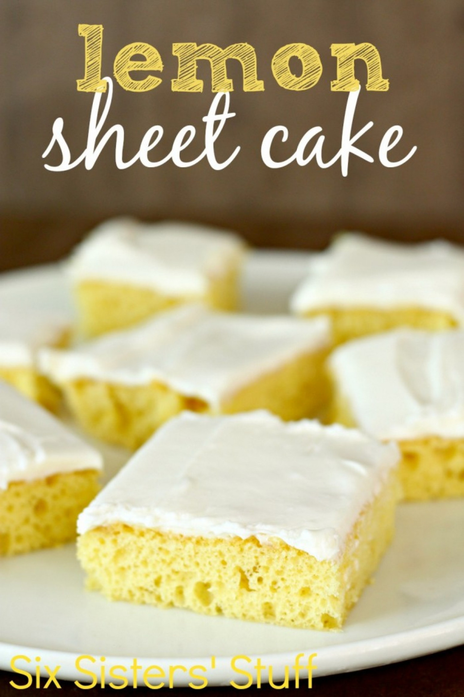 Easy Lemon Sheet Cake Recipe | Just A Pinch Recipes