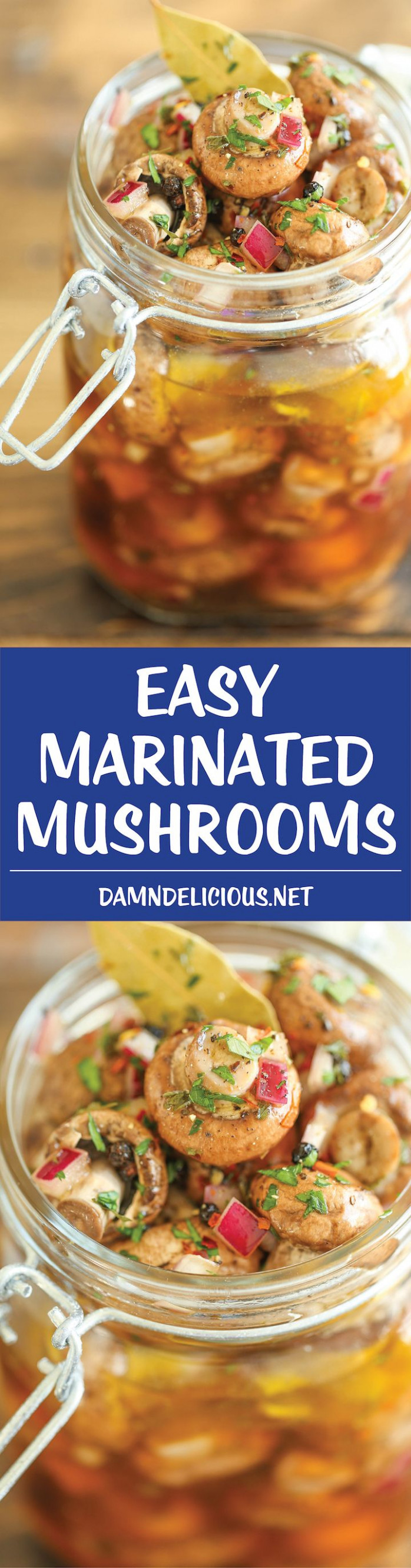 Easy Marinated Mushrooms | Damn Delicious® | Mat, Svamp ...