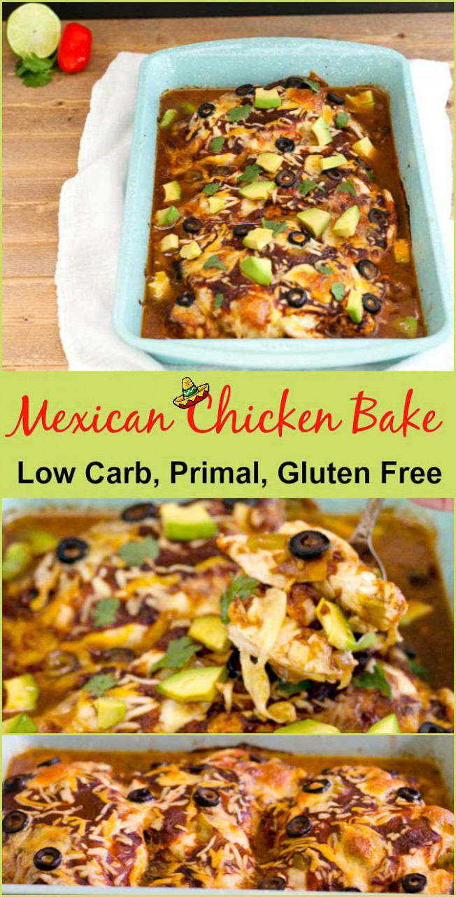 Easy Mexican Chicken Bake Low Carb | Beauty and the Foodie