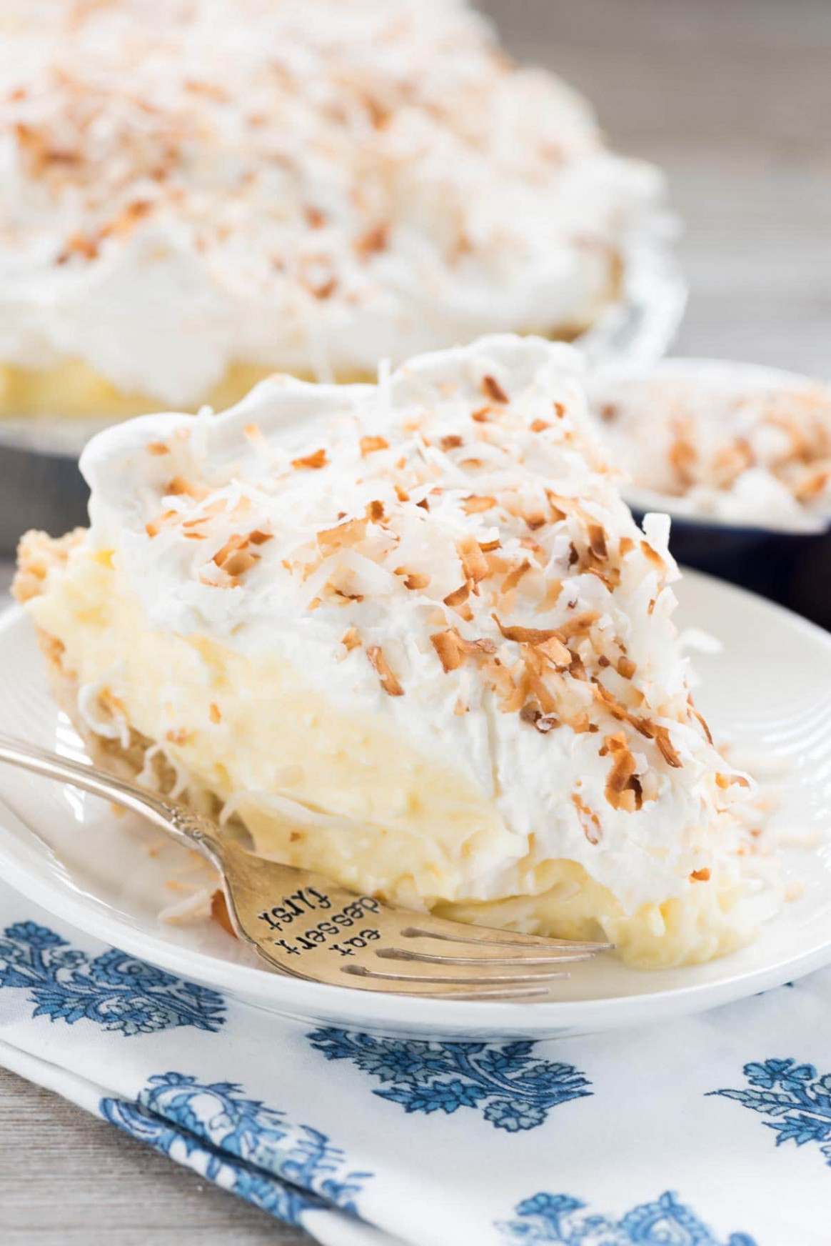 Easy No Bake Coconut Cream Pie - Crazy For Crust