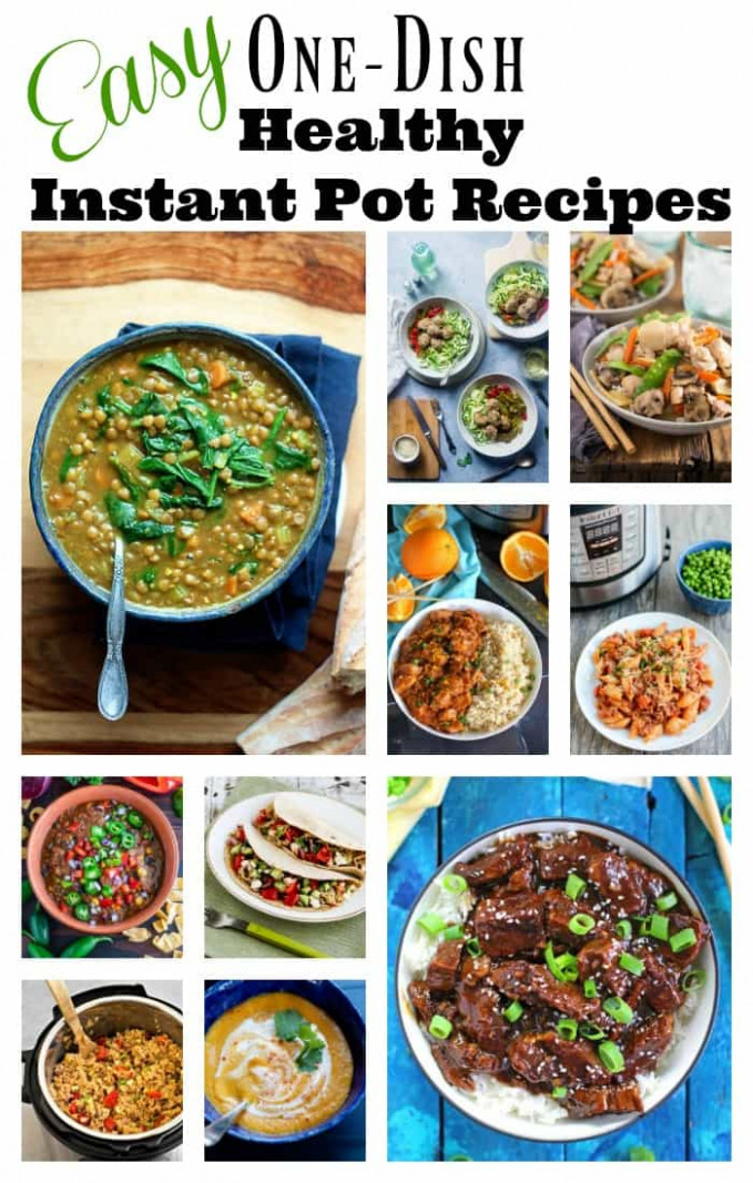 Easy One-Dish Healthy Instant Pot Recipes- Amee's Savory Dish
