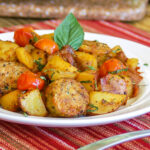 Easy One Skillet Meal: 10 Minute Hearty Italian Sausage And Potatoes