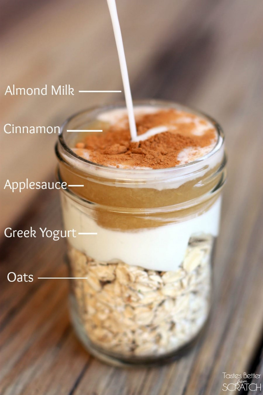 Easy Overnight Oatmeal Recipe - Living Vazzy