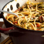 Easy Pasta Recipe  One Pot Sausage And Spinach