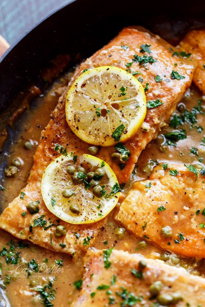 Easy Salmon Piccata | A lightened up, quick and easy ...