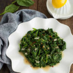 Easy Sauteed Spinach – Feasting Not Fasting