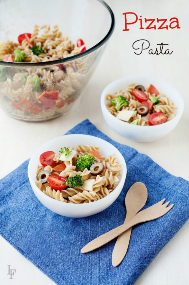 Easy School Lunch Idea: Pizza Pasta Salad Recipe & Video