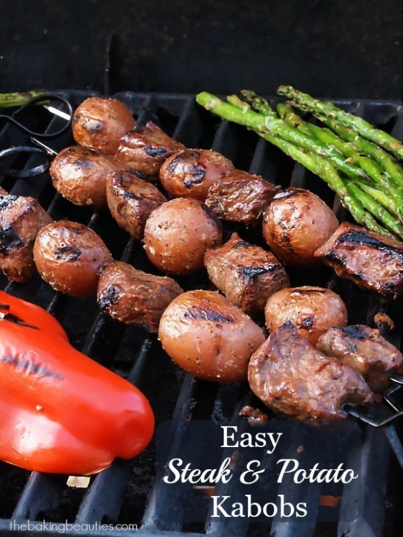 Easy Steak and Potato Kabobs - The Baking Beauties