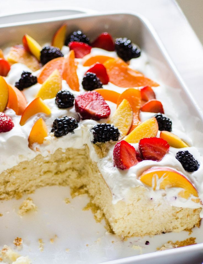 Easy Summer Cake with Fruit & Cream | Recipe | Foods ...