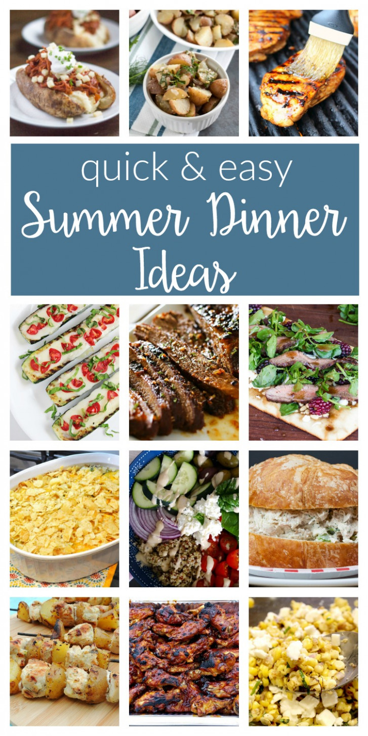 Easy Summer Dinner Ideas - Merry Monday #8 - two purple ...