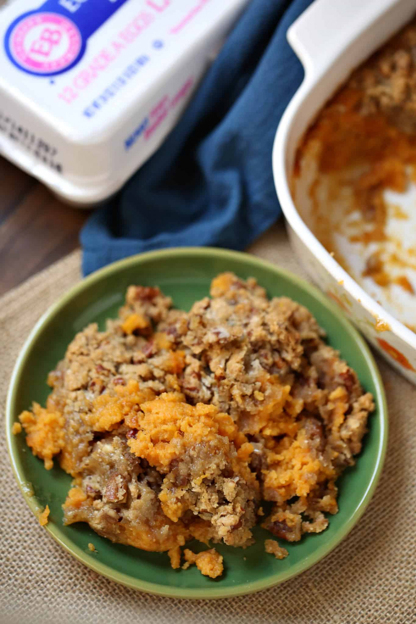 Easy Sweet Potato Casserole - The Country Cook side dishes