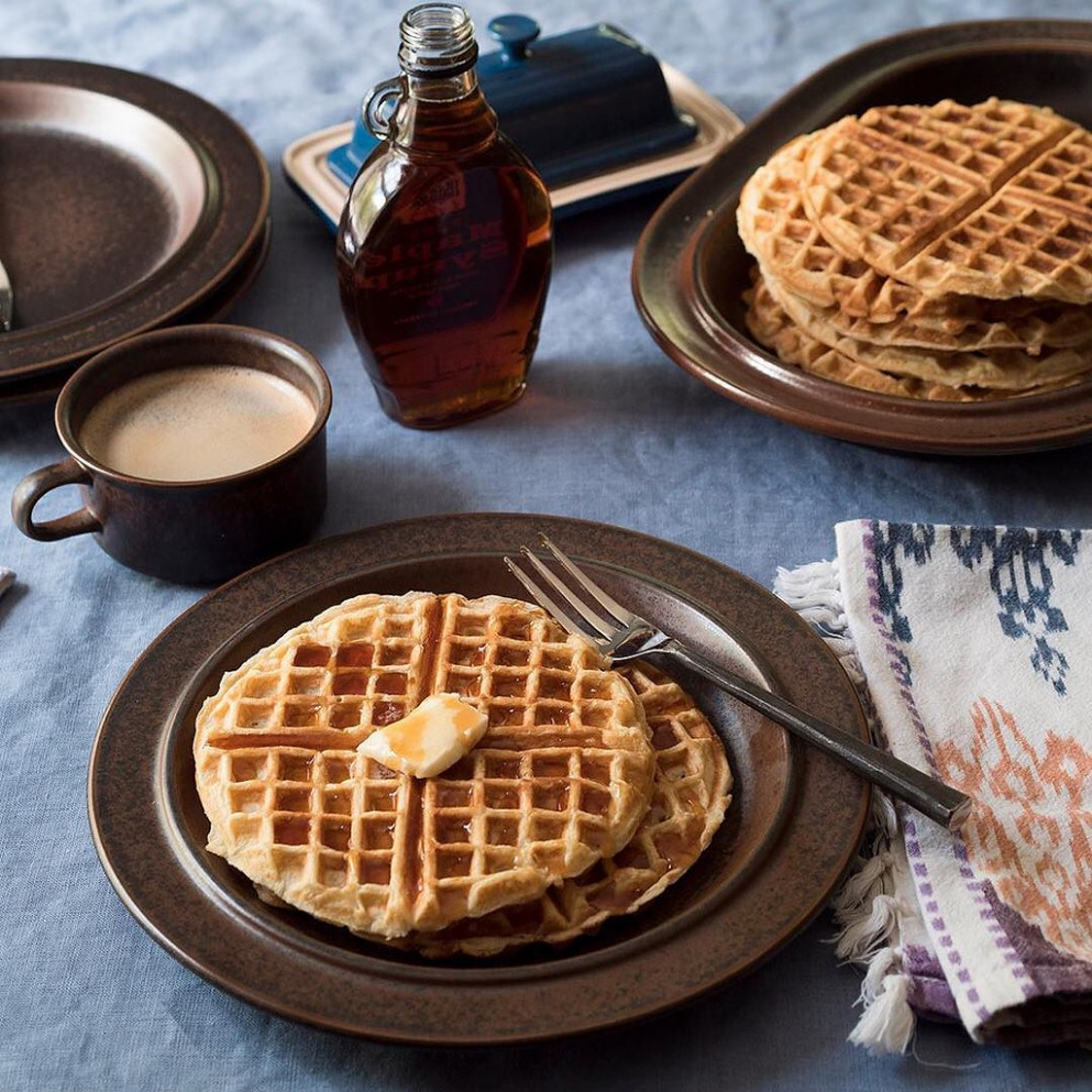 Easy weekend #waffles, the @clarkbar way. Her recipe is through our profile link