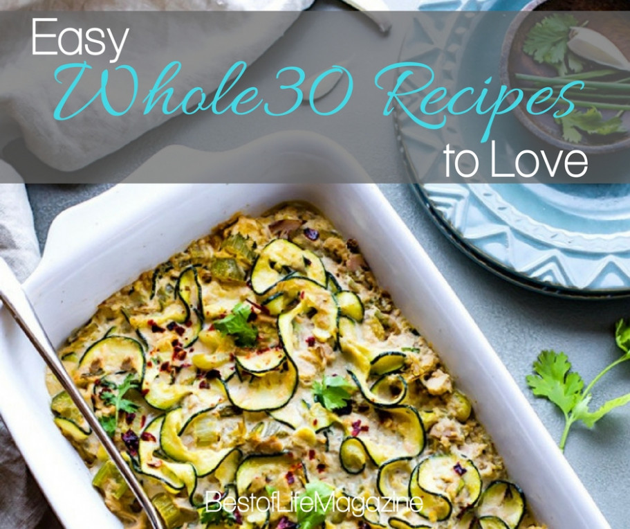 Easy Whole30 Recipes to Keep you on Track - The Best of ...
