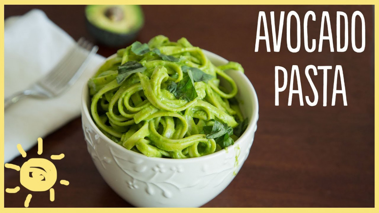 EAT | Avocado Pasta (easy, healthy, delicious dinner ...