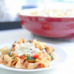 Eclectic Recipes Cheesy Chicken Cacciatore Noodle Bake ...