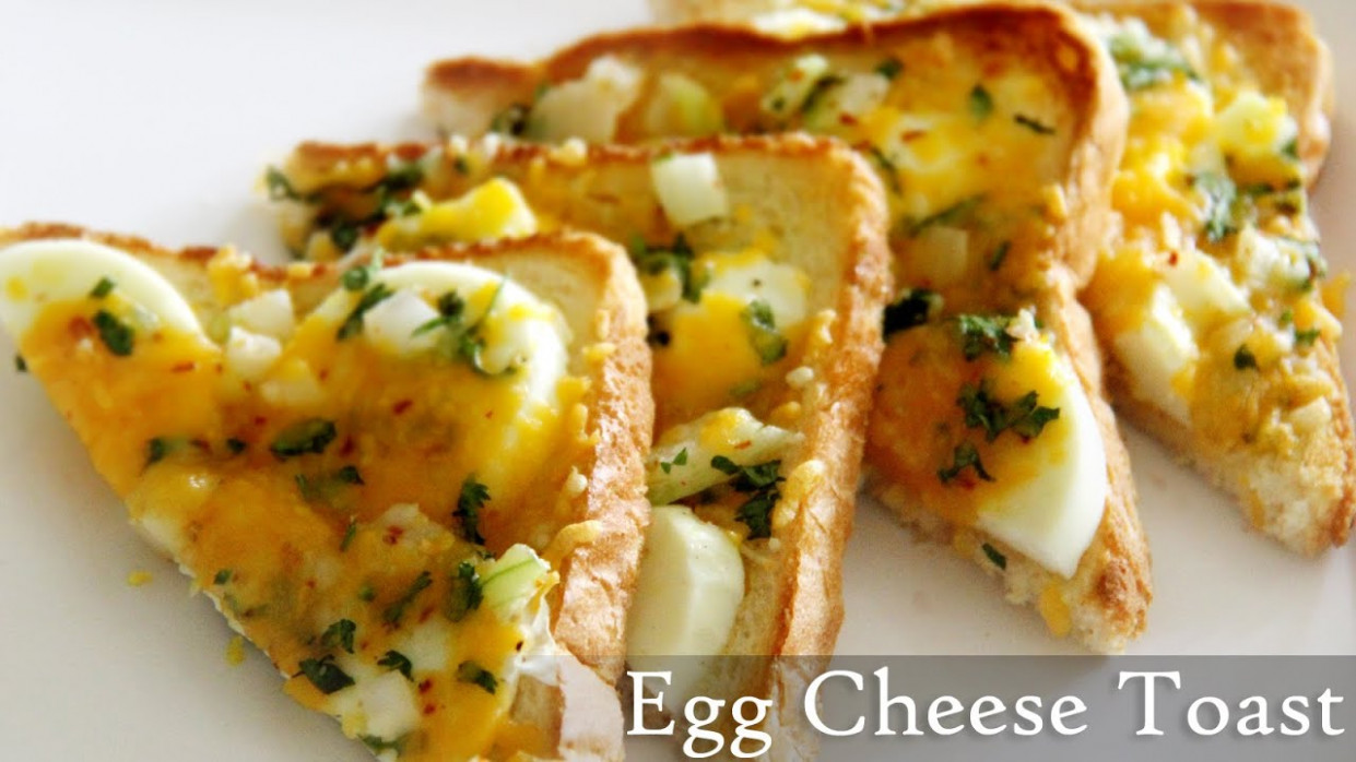 Egg Cheese Toast Recipe | Quick Toast Recipes- Indian Easy ...