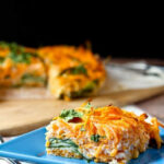 Egg White Breakfast Bake with Sweet Potato and Spinach ...