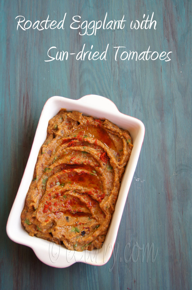 Eggplant And Sun Dried Tomato Dip 6  W Text