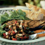 Eggplant Steak With Chickpeas, Roasted Red Peppers, Feta …