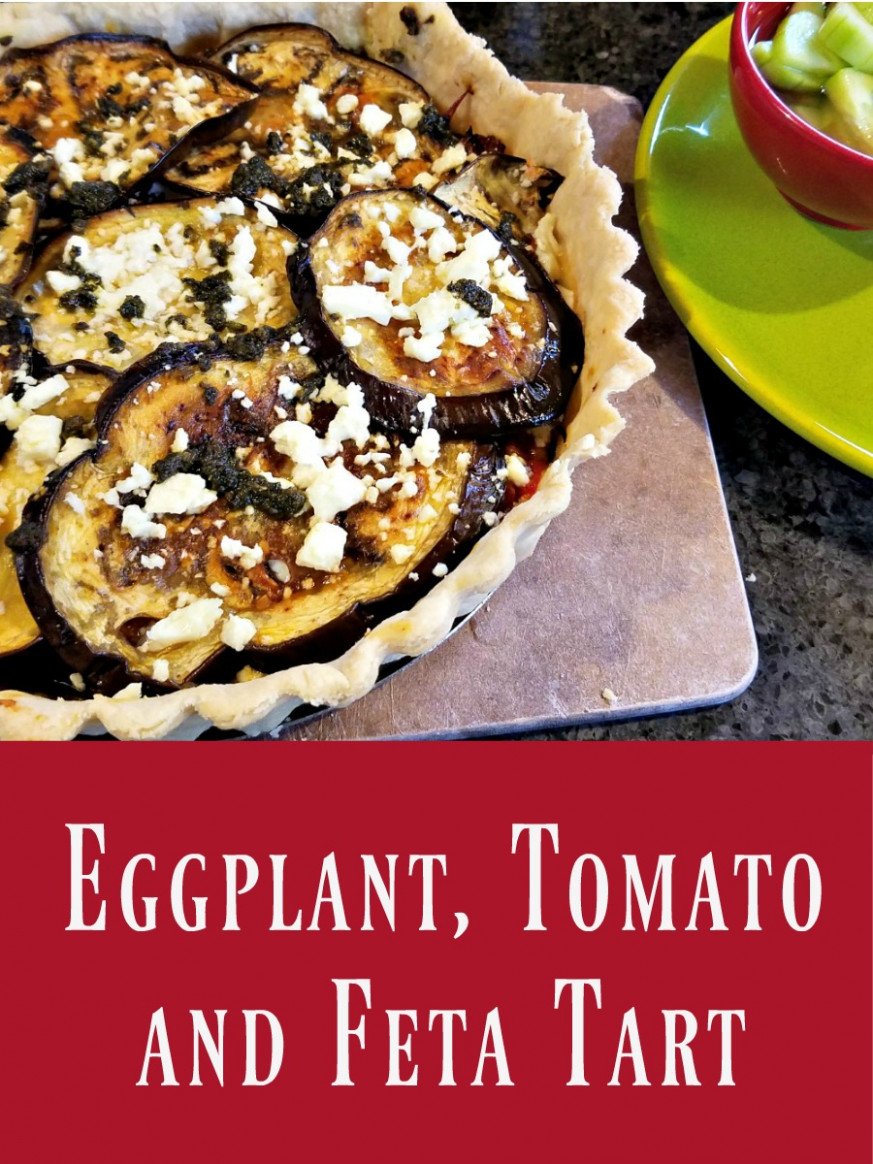 Eggplant, Tomato and Feta Tart