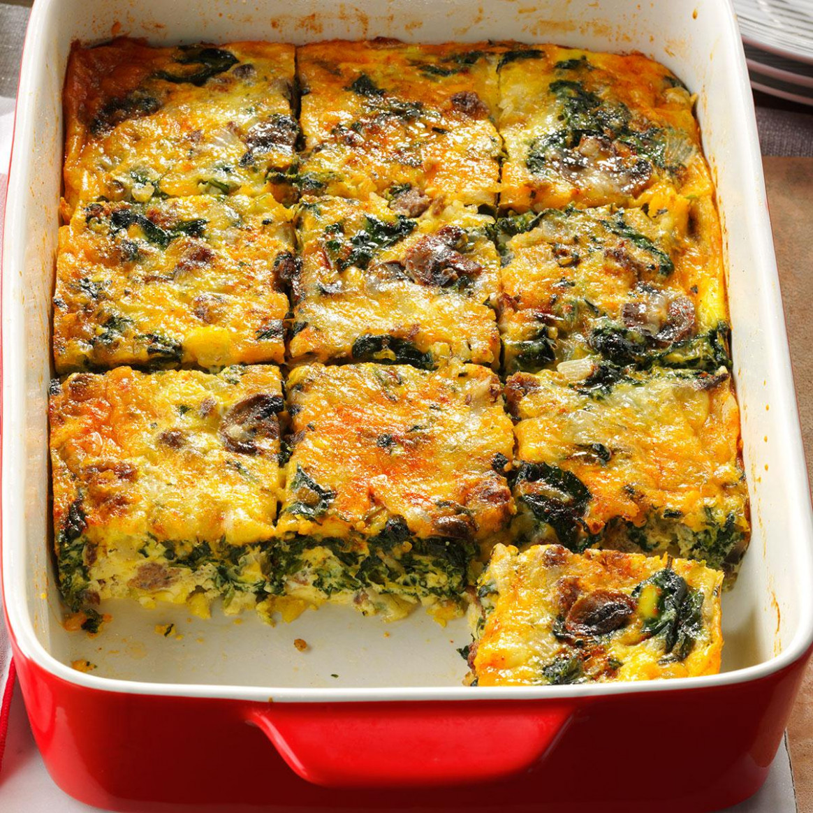 Eggs Florentine Casserole Recipe | Taste of Home