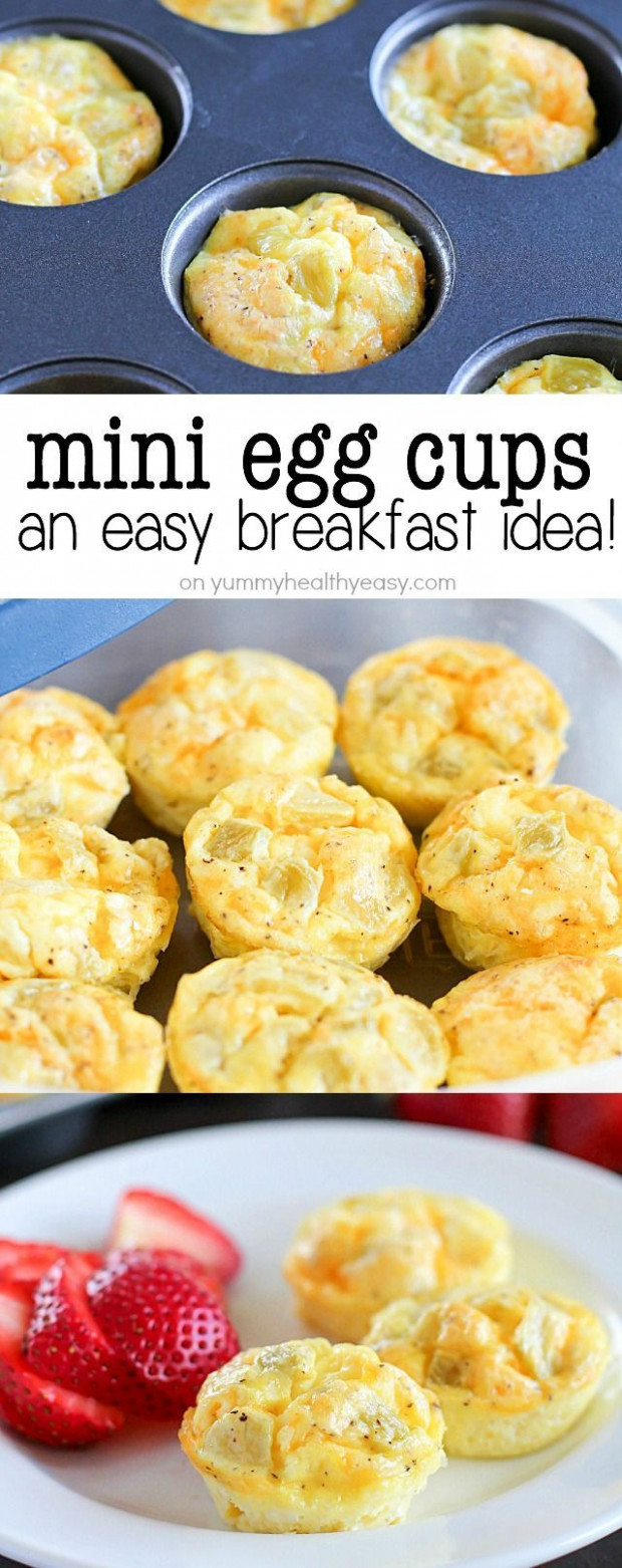 Extremely simple and delicious healthy mini egg cups! A ...