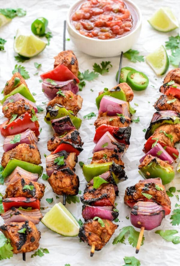 Fajita Chicken Kebabs